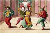 18th-Century Engraving of Commedia Dell'arte Actors on Stage. Corbis. 2006.